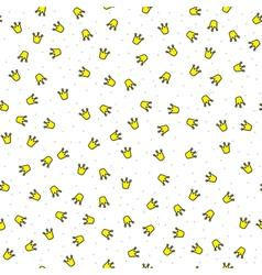 Little crowns pattern vector