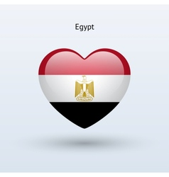 Love egypt symbol heart flag icon vector