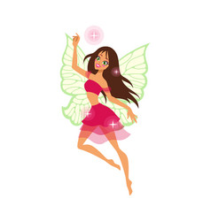 magical cute fairy cartoon female character with vector image