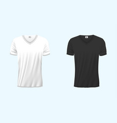 mens v-neck t-shirt design template front back vector image