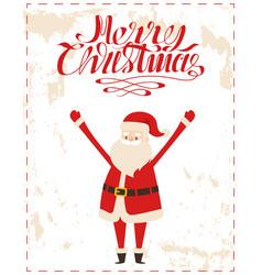 merry christmas santa cartoon character sticker vector image