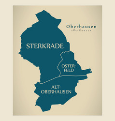 Modern city map - oberhausen city of germany with vector