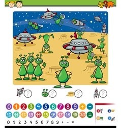 Numbers game cartoon vector