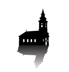 Orthodox church silhouette vector image