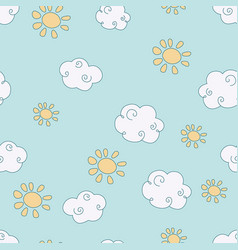 pattern with clouds pattern with clouds vector image