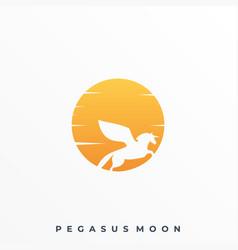 pegasus moon template vector image