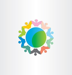 People around world symbol vector