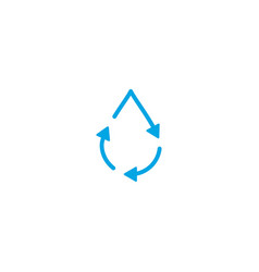 Recycle water drop fresh clean logo icon simple vector