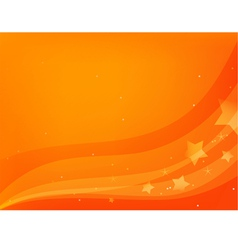 red-orange background with stars vector image