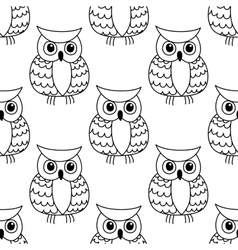 seamless background pattern a cute owl vector image