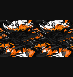 seamless cyberpunk orange and white and black vector image