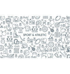 Sports and athletics line banner vector