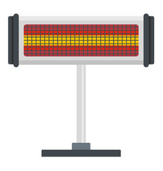 Standing heater icon flat style vector