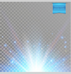 sun star burst with flare rays of light vector image