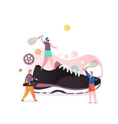 tennis sneaker concept for web banner vector image