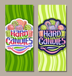 vertical banners for hard candies vector image