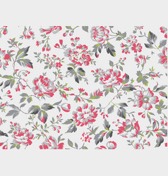 Vintage style floral seamless pattern vector