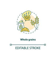 Whole grains concept icon vector