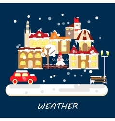 Winter weather banner vector