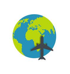 world tourism icon flat style vector image