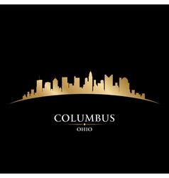 Columbus Ohio city skyline silhouette vector image