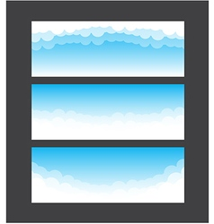 Nature banner template blue sky and cloud element vector image