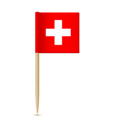 swiss flag flag toothpick switzerland vector image vector image