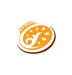 Abstract sign bakery bread vector image