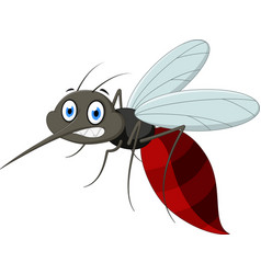 angry mosquito cartoo vector image