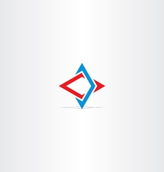 blue red abstract business technology logo vector image
