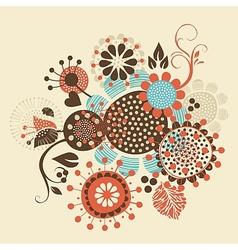 Floral Decorative Bouquet vector image