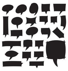 Marker Speech Bubbles vector image vector image