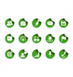 web icons sticky series vector image vector image