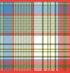 coloured plaid shirting diagonal seamless fabric vector image vector image