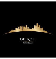 Detroit Michigan city skyline silhouette vector image