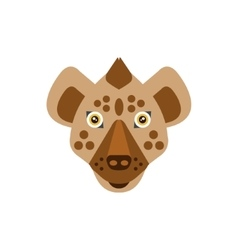 Hyena african animals stylized geometric head vector
