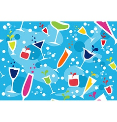 Multicolour cocktail pattern vector image