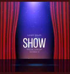 theater stage with open curtains vector image