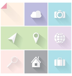 Two-colored flat icons vector image vector image