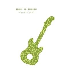abstract green natural texture guitar music vector image vector image