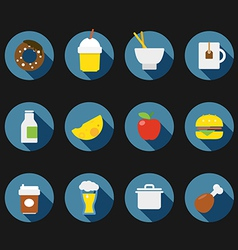 Color interface icons vector image vector image