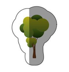 color tree art icon vector image