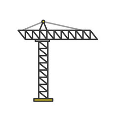 construction crane isolated icon vector image