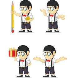 Nerd Boy Customizable Mascot vector image vector image