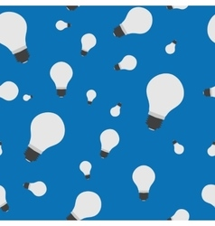 Seamless - bulb lamp on blue vector image