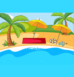 a simple beach background vector image