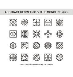 Abstract geometric shape monoline 75 vector