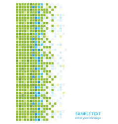 abstract green blue squares vector image