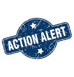 Action alert sign vector