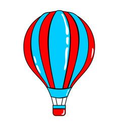 Airballoon cartoon sticker in retro style vector
